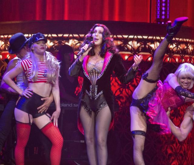 "Cher performing ""Welcome to Burlesque""."