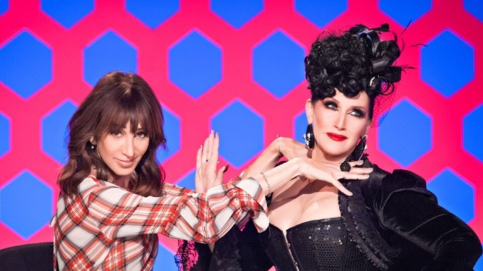 That's Merle Ginsburg on the left for all you noobs who started watching when Sharon Needles won.