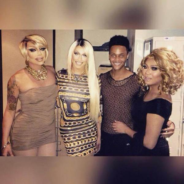 From Left to Right: Raven, Tatianna, Tyra Sanchez, and Jujubee from Season 2 of Drag Race