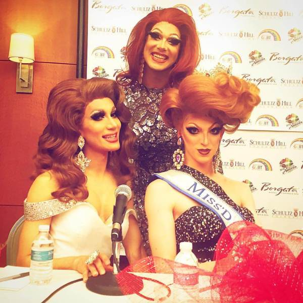 2nd Runner Up Alexis Michelle (top), 1st Runner Up Pataya (Bottom Left), Miss'd America Fifi DuBois (Bottom Right)