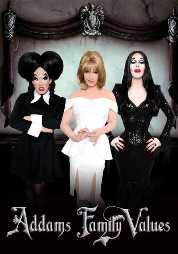 "Peaches Christ's ""Addams Family Values"" http://www.peacheschrist.com/"