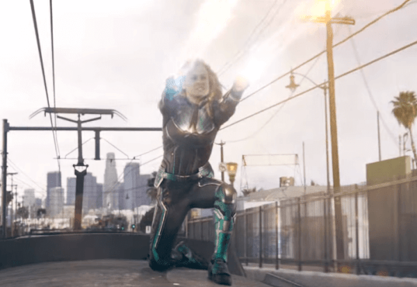 Captain Marvel is all like pewpewpew