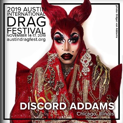Austin International Drag Festival Headliner Announcement: Discord Addams 73