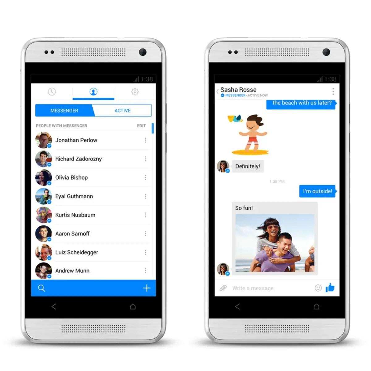 updated version of facebook messenger