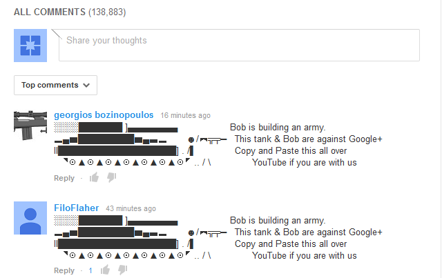 youtube comments bob