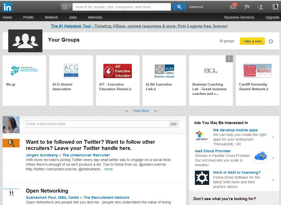 Groups' New Look LinkedIn