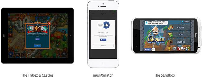 like button in native apps facebook developers