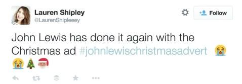 #JohnLewisChristmasAd