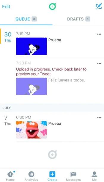 Screenshot Twitter Dashboard