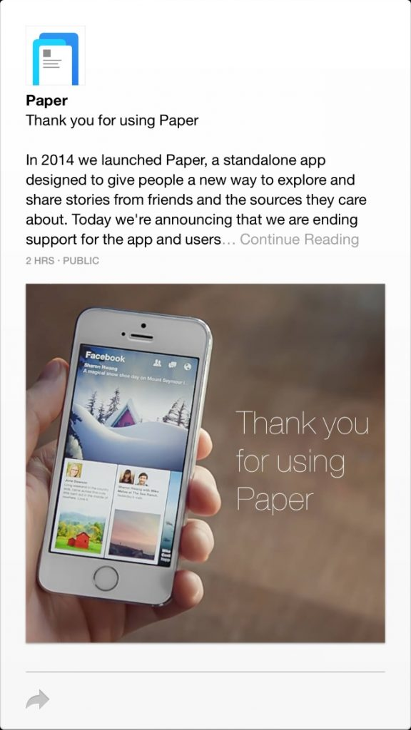 wersm-facebook-shuts-down-its-paper-app