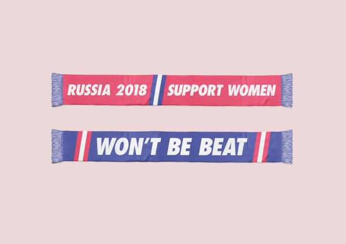 jess and alex won't be beat russia 2018 - scarves