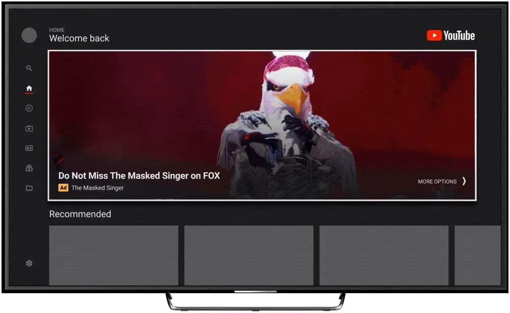youtube masthead tv screen