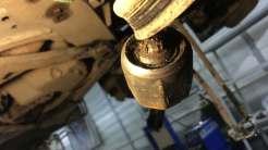 Состояние шаровой рулевой тяги после попадания воды