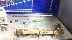Рулевая рейка ГУР в разобранном виде