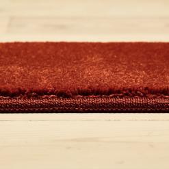 brændt rødt tæppe med kant fra WeRug