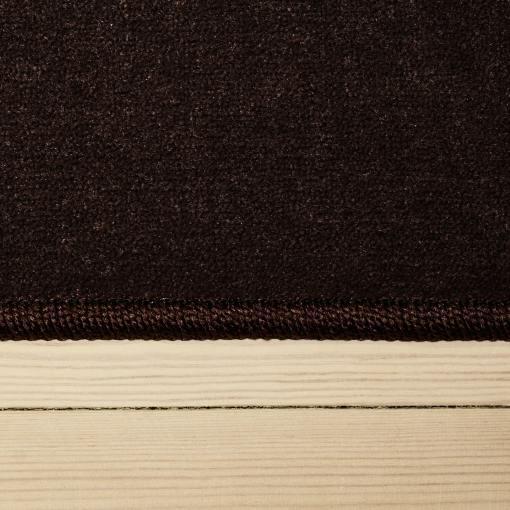 chokoladefarvet tæppet med kant fra WeRug