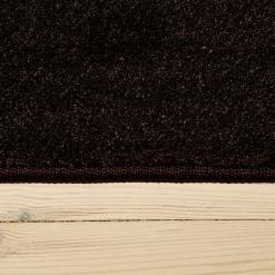 chokoladefarvet tæppe med kant fra WeRug