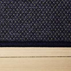 lilla tæppe med mønster og kant fra WeRug