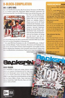 Mr. E D-Block Compilation on Backspin Magazine