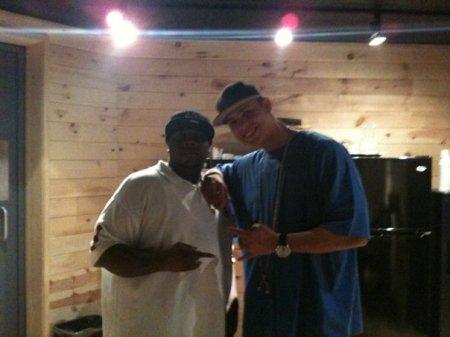 Mr. E with DJ Live in Quad Studios NY