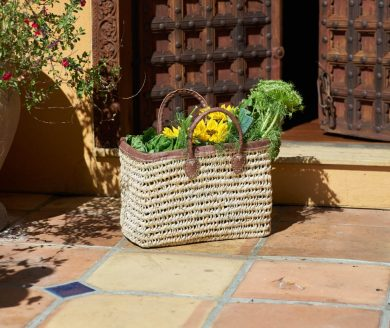 One of Casablanca Market's handmade baskets. Courtesy photo