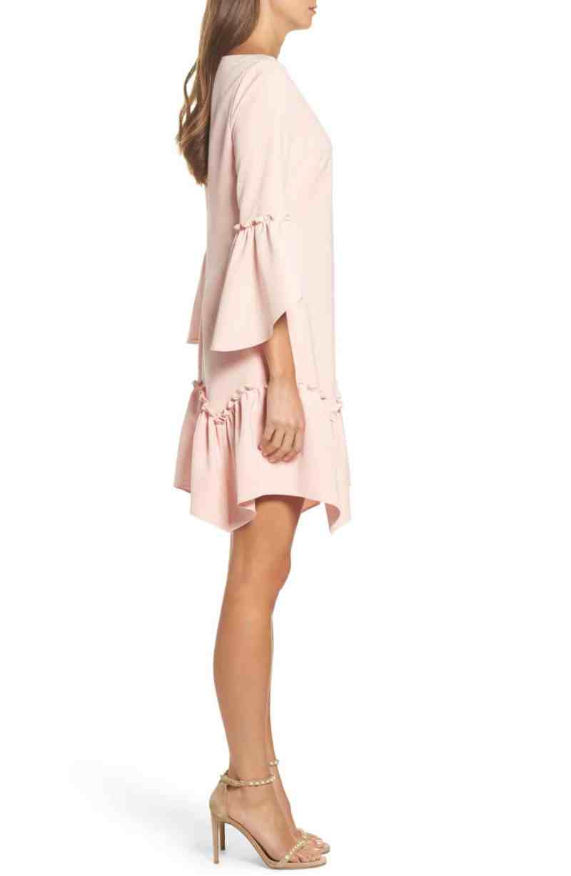 5de506d846cc35 Debonair Eliza J Ruffle Hem Shift Blush Dress Eliza J Ruffle Hem ...