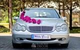 dekoracja ślubna samochodu - piwonie
