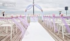 Ślub na molo - dekoracja Diamond Decor