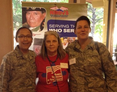 MAMF's Writer-in-Residence Caroline and Msgt Nielson and Tsgt Lajiness
