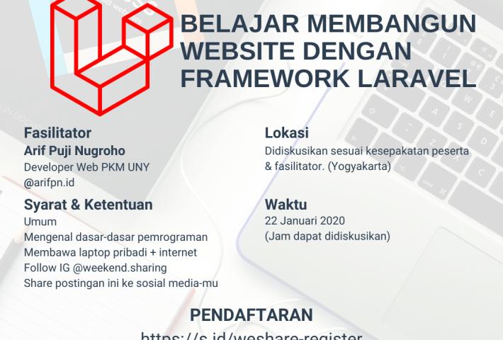 Belajar Membangun Website Dengan Framework Laravel
