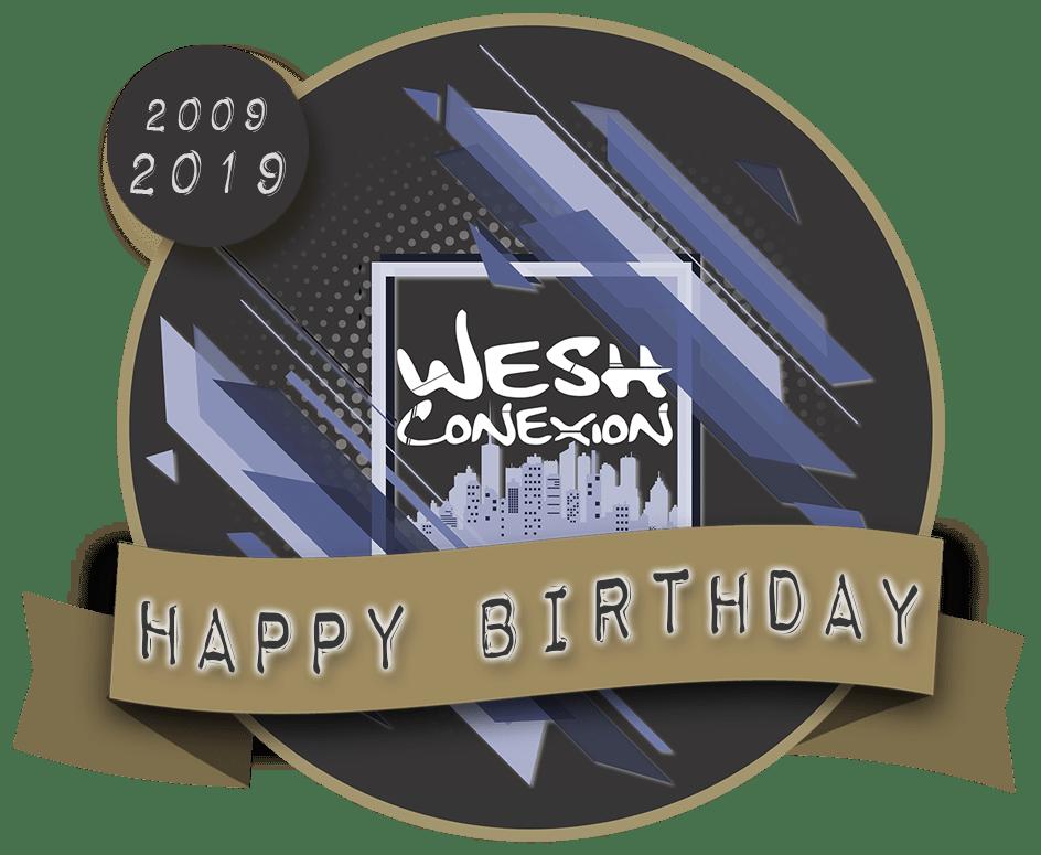 logo des 10 ans de la Wesh Conexion