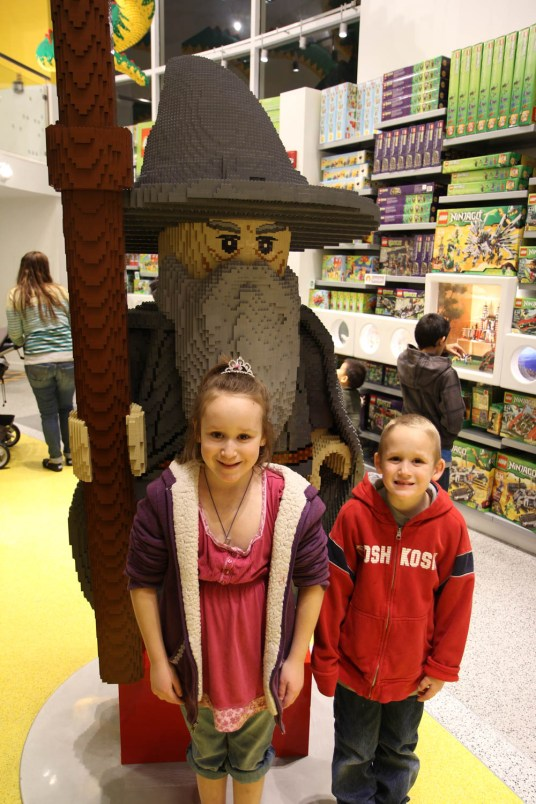 Inside of the Lego Store
