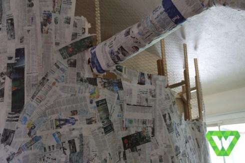 Paper mache tree