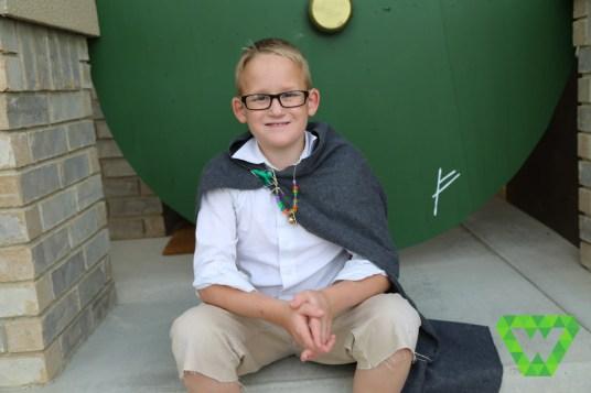 Justin and the Hobbit door