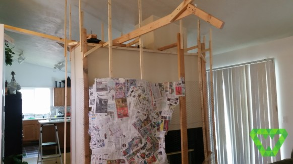 Paper mache tree and structure