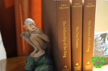Gollum is watching the books.