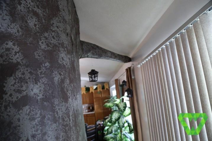 The paper mache tree.