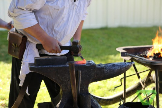 The Wasatch Forge Blacksmith forgot to bring a tool to the demonstration... so he made a new one.