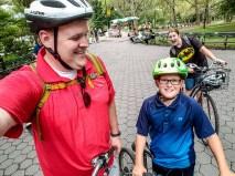 Riding bikes through NY Central Park