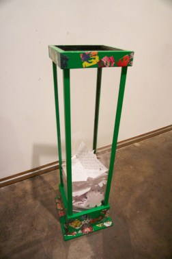 Of Rocks and Bullets Installation-Receptacle