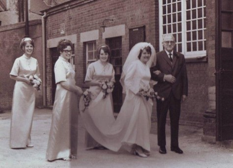 Margaret Wright's wedding.