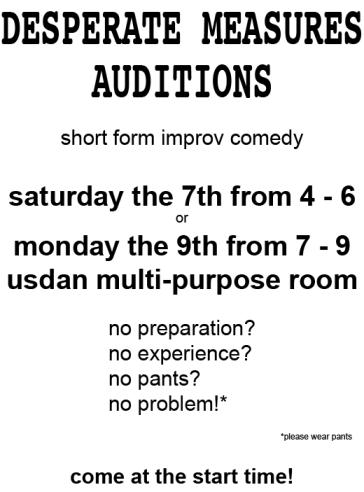 DM Audition Poster 2