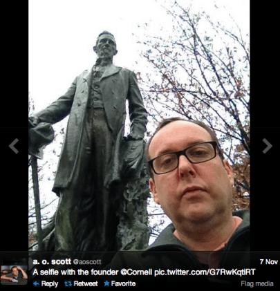 A.O. Twitter selfie