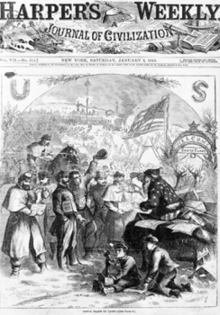"""Welcome Santa Claus."" Harper's Weekly, January 5, 1863."