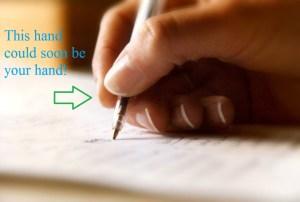 writing through trauma writing hand