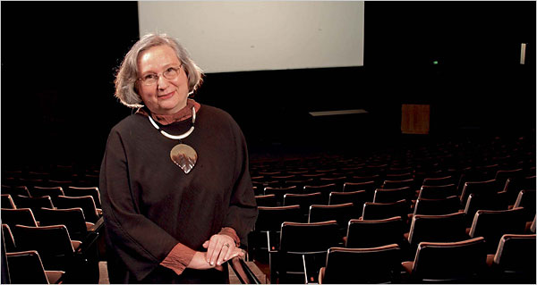 "Basinger is here pictured in the Goldsmith Family Cinema. This picture was taken from New York Times Article featuring her book ""The Star Machine,"" about the height of the studio system in the 30s through 50s"