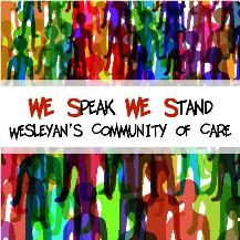 we speak we stand logo color small