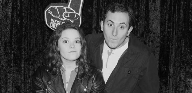 And then this is my peak Wesleyan photo, with my editor and bestie Gabe Rosenberg.