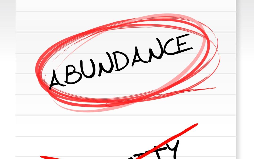 Replace a Scarcity mindset with a Stewardship minset