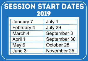 WESLI 2019 Start Dates